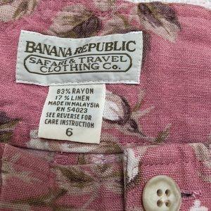Banana  Republic Vintage Shorts linen rayon blend
